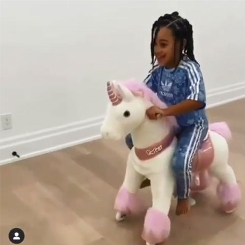 New pet an unicorn ride on toy