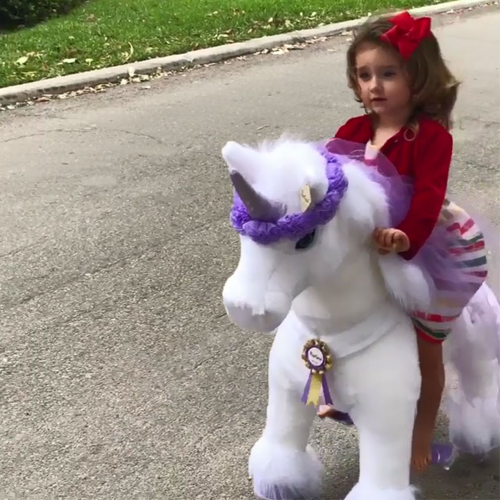 High end ride-on unicorn for girl